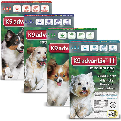 K9 Advantix kills and repels fleas and ticks