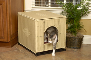 Mr. Herzher's Wicker Litter Box Cover is available at PetMeds®