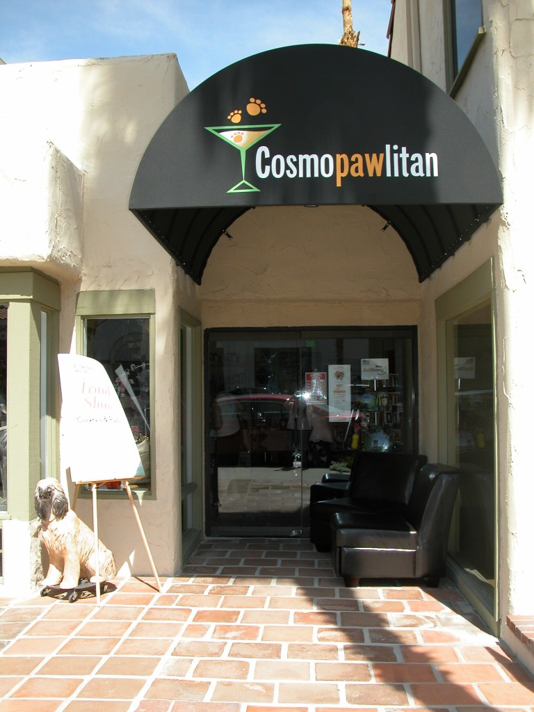 The Le Chien trunk show was held at the Cosmopawlitan Cafe