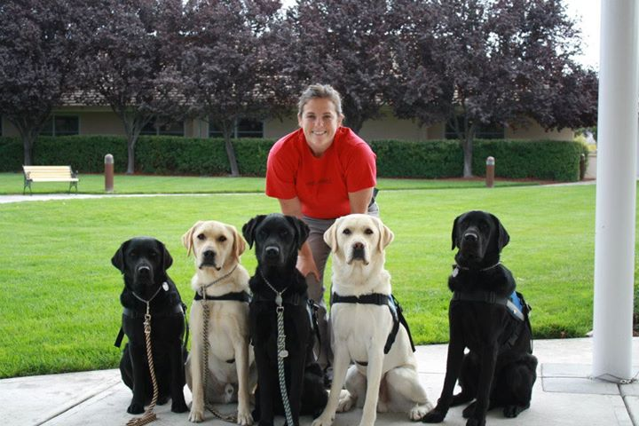 Canine Companions Trainer Jamie Toliver and her team