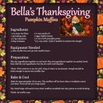 Bella's Thanksgiving Pumpkin Muffin Recipe for Dogs