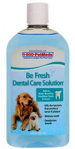 Be Fresh Dental Care Solution is available at PetMeds