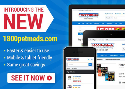Discover the NEW 1800petmeds.com website