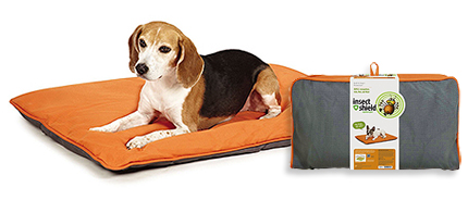 Find the Insect Shield Insect Repellent Reversible Pet Bed at 1800PetMeds
