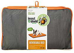 Buy the Insect Shield Insect Repellent Reversible Pet Bed at 1800PetMeds