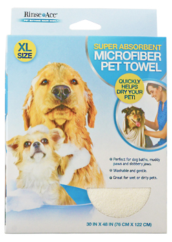 Buy the Rinse Ace Super Absorbent Microfiber Pet Towel at 1800PetMeds