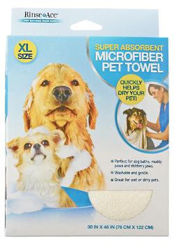 Buy the Rinse Ace Super Absorbent Microfiber Pet Towel at 1800PetMeds