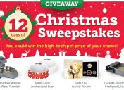 [Sweepstakes] Win the high-tech pet gear of your choice in our 12 Days of Christmas Giveaway!